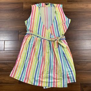Tommy Hilfiger Rainbow Striped Wrap Dress